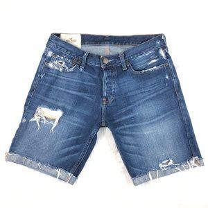 Men's Hollister Destroyed Jean Shorts Size 32